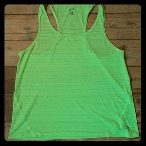 Champion Duo Dry Bright Green Atletic Tank Medium